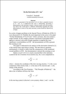 PDF E DERIVATION MC2 OF