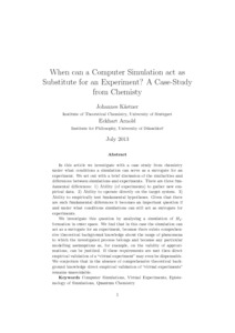 When can a Computer Simulation act as Substitute for an