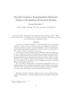 Peaceful Coexistence: Examining Kent's Relativistic Solution