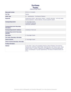 Replies - Philsci-Archive