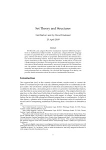 Set Theory and Structures  - Philsci-Archive