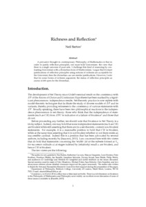 Richness and Reflection  - Philsci-Archive