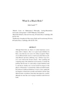 What Is a Black Hole?  - Philsci-Archive