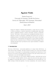 Against Fields - Philsci-Archive