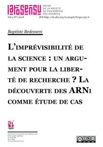 L'imprévisibilité de la science : un argument pour la