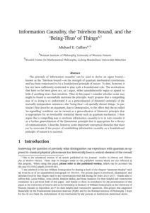 Information Causality, the Tsirelson Bound, and the 'Being-Thus' of Things - Philsci-Archive