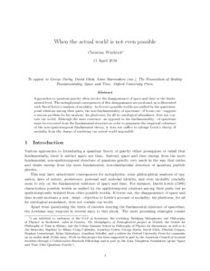 When the actual world is not even possible - Philsci-Archive