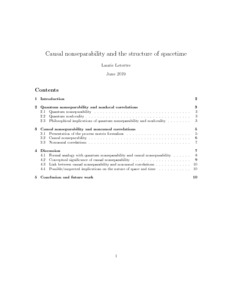 Causal nonseparability and the structure of spacetime