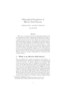 Philosophical Foundations of Effective Field Theories  - Philsci-Archive
