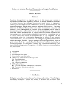 Getting over Atomism: Functional Decomposition in Complex Neural Systems  - Philsci-Archive