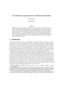 An Alternative Interpretation of Statistical Mechanics  - Philsci-Archive