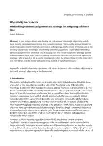 Objectivity in contexts: Withholding epistemic judgement as a strategy for mitigating collective bias  - Philsci-Archive