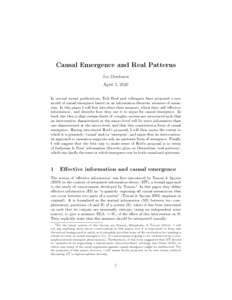 Causal Emergence and Real Patterns  - Philsci-Archive