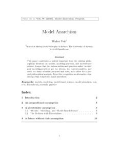 Model Anarchism  - Philsci-Archive