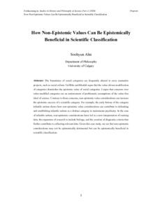 How Non-Epistemic Values Can Be Epistemically Beneficial in Scientific Classification  - Philsci-Archive