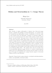 Holism and Structuralism in U(1) Gauge Theory - Philsci ...