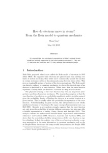 How do electrons move in atoms? From the Bohr model to quantum mechanics  - PhilSci-Archive