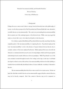 incommensurability thesis