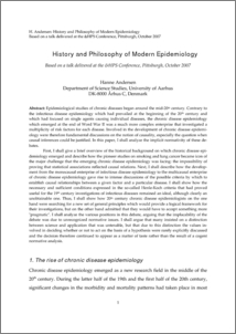 History And Philosophy Of Modern Epidemiology Philsci Archive