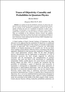 Traces of Objectivity: Causality and Probabilities in Quantum